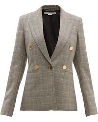 Stella McCartney Prince Of Wales-check Single-breasted Wool Jacket - Multicolour