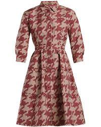Bottega Veneta - Geometric Print Panelled Shirtdress - Lyst