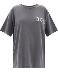 Bode Pearly Button-logo Cotton-jersey T-shirt - Grey