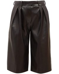 Alexandre Vauthier High-rise Leather Shorts - Black