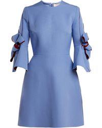 ROKSANDA - Harlin Bow Sleeve Bonded Crepe Mini Dress - Lyst