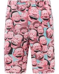 Comme des Garçons Comme Des Garçons Shirt X Yue Minjun コットンショートパンツ - ピンク