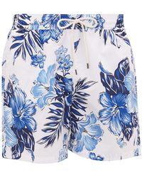 Polo Ralph Lauren Hawaiian-print Swim Shorts - Blue
