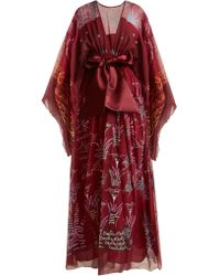 Zandra Rhodes Summer Collection The 1973 Field Of Lilies Gown - Red