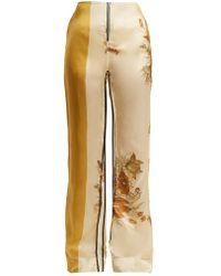 Kwaidan Editions - Vallens Wide-leg Floral-print Trousers - Lyst
