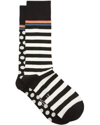 Paul Smith Pack Of Two Cotton-blend Socks - Black