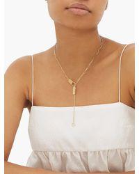 Jade Trau ベティ ダイヤモンド 18kゴールドネックレス - メタリック