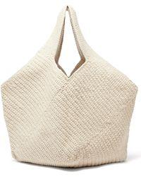 Lauren Manoogian Pinwheel Hand-crocheted Cotton-blend Tote Bag - Natural