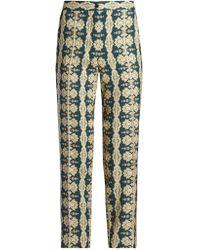 Etro - Mosaic-print Slim-leg Trousers - Lyst