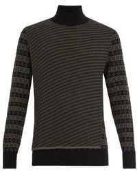 Maison Margiela - Roll-neck Wool-jacquard Jumper - Lyst