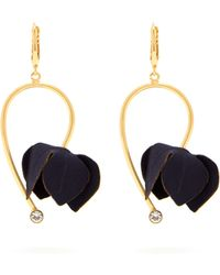 Marni - Flora Fabric And Strass Earrings - Lyst