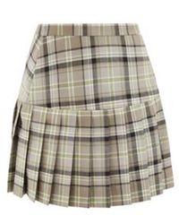 Vivienne Westwood プリーツ タータンチェック ウールツイルミニスカート - マルチカラー