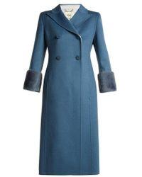 Fendi - Double-breasted Wool Coat - Lyst