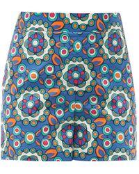 La DoubleJ Kaleidoscope Bluette-print Cotton-poplin Shorts