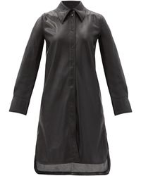 Stand Studio Robe-chemise en similicuir Remi - Noir