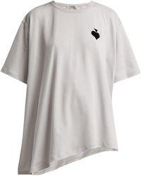 Vika Gazinskaya - Flocked-spade Cotton T-shirt - Lyst