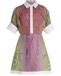 Mary Katrantzou - Achilles More Optic-print Silk And Jacquard Dress - Lyst