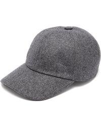 Brunello Cucinelli Panelled Wool Baseball Cap - Gray
