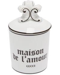 Gucci Maison De L'amour キャンドル - ホワイト