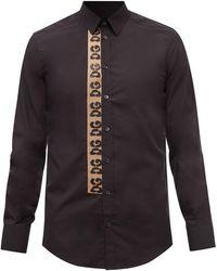Dolce & Gabbana コットンポプリンシャツ - ブラック