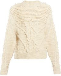 Étoile Isabel Marant Ryder Wool Cable-knit Jumper - White