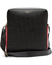 Thom Browne - Contrast Panel Grained Leather Camera Bag - Lyst