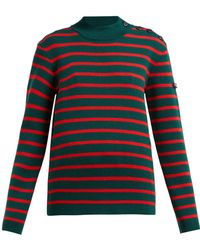 CALVIN KLEIN 205W39NYC Striped Wool Sweater - Multicolor