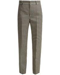 Balenciaga - Gingham Wool Trousers - Lyst