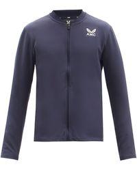 Castore Logo-print Technical-jersey Zipped Jacket - Blue