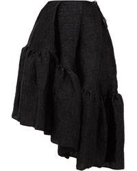 Cecilie Bahnsen デューン アシンメトリー ペプラムヘムスカート - ブラック