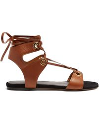 Isabel Marant | Jaysta Lace-up Leather Sandals | Lyst