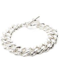 Pearls Before Swine Spliced Sterling Silver Bracelet - Metallic