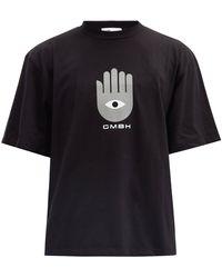 GmbH Birk Hand Of Fatima-print Organic-cotton T-shirt - Black
