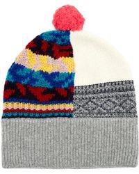 Burberry | Multicoloured Patchwork Cashmere-blend Beanie Hat | Lyst