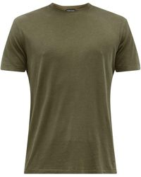 Tom Ford リヨセルコットンtシャツ - ブラウン