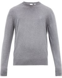 Burberry - Tb Embroidered Cashmere Sweater - Lyst