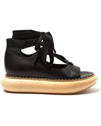 Loewe - Wooden Sole Leather Sandals - Lyst
