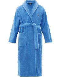 Polo Ralph Lauren Logo-embroidered Terry Robe - Blue