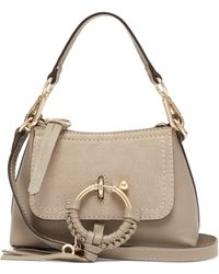 See By Chloé Joan Mini Leather Cross Body Bag - Gray