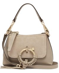 See By Chloé Joan Mini Leather Cross-body Bag - Gray