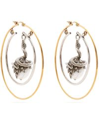 Alexander McQueen - Faux Pearl Drop Hoop Earrings - Lyst
