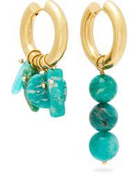 Timeless Pearly Bague épingle à nourrice à médaillon Medusa - Multicolore