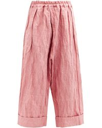 Toogood The Baker Cotton-blend Twill Wide-leg Trousers - Pink
