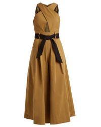 Temperley London - Blueberry Stretch-cotton Jumpsuit - Lyst