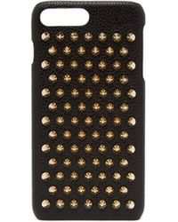 Christian Louboutin Loubiphone Spiked Textured-leather Iphone 7 And 8 Plus Case - Black