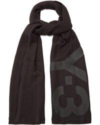 Y-3 - Logo Knit Scarf - Lyst