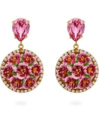Dolce & Gabbana Hammered Hoop Earrings - Black