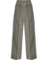 Racil - Nitta Houndstooth Wool Blend Trousers - Lyst