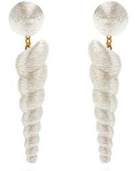 Rebecca de Ravenel - Twisty Drop Earrings - Lyst