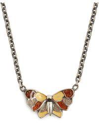 Bottega Veneta - Butterfly Pendant Necklace - Lyst